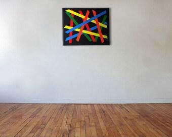 Bar Overlap - Acrylic on canvas - 46cm x 36cm
