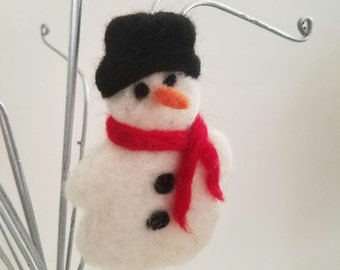 Snowman Christmas tree ornament with free shipping