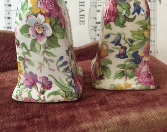 Vintage CHINTZ Salt & Pepper*Royal Winton*Summertime party*Made in England*Cottage Style
