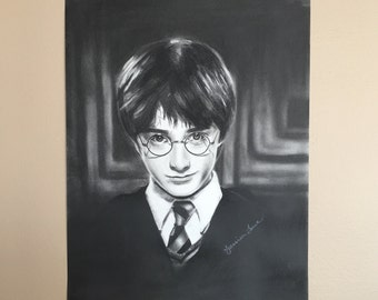 Harry Potter Charcoal Drawing