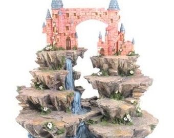 Fantasy Castle Mountain Tiered Display Stand Height 35cm