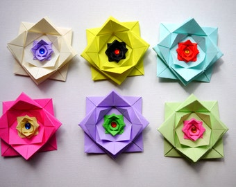 Origami gift bow x4 mixed bright colours