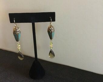Gorgeous Tibetan Beads with Large Lemon Quartz Drop Beads