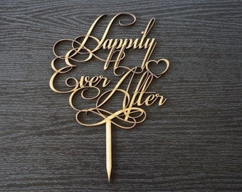 Wedding Cake Topper Decoration - Happily Ever After