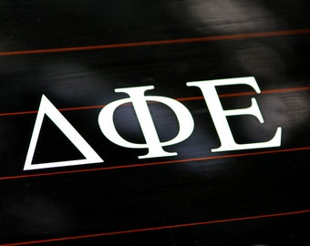 Delta Phi Epsilon | White Adhesive Decal