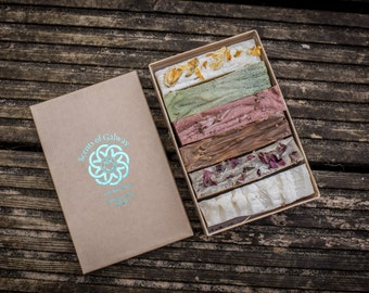 Natural Soap, handmade in Galway, Ireland - Six-soap Gift Box (6 x 80g)