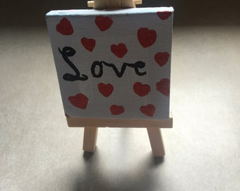 Love painting on mini canvas.