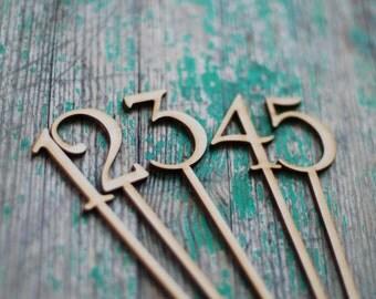 Wooden Table numbers, Wedding table numbers, Blank table numbers, DIY wedding, Rustic wedding decor, Lasercut wood numbers, TN-8