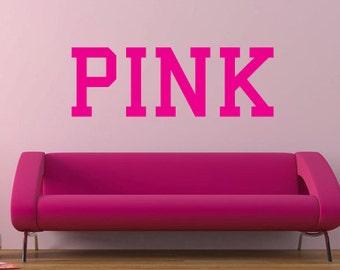 Pink Victoria's Secret Pink vinyl wall decal
