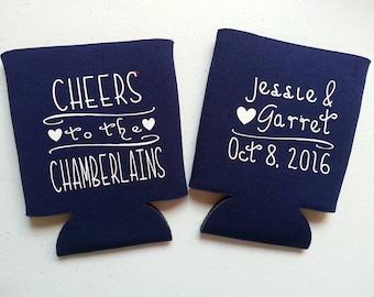 CUSTOM WEDDING Bachelorette, Bachelor Party Custom Coolies