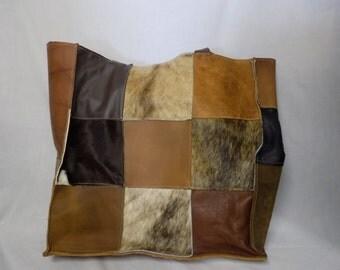 Leather Patchwork Hobo Bag