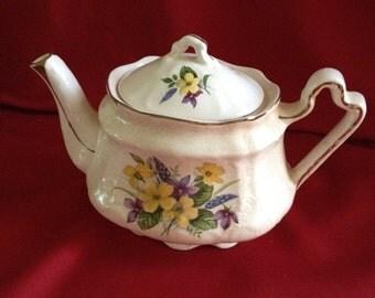Arthur Wood #5661 England,  22 K Gold, Embossed, Tea Pot