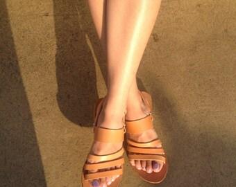 Iris' Genuine  Leather Sandals, Women Sandals, Ancient Greek Sandals, Handmade Sandals, Wedding Sandals