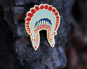 Canadian Headdress Pin