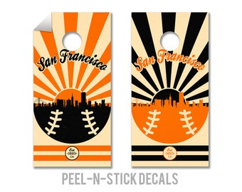 San Francisco Baseball Cornhole Board Decals