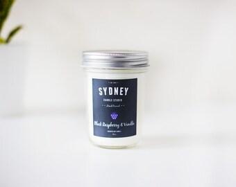 Black Raspberry & Vanilla Soy Candle : 8oz