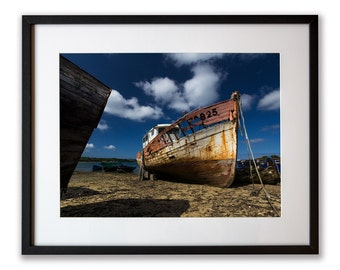 Ghost Ship to Rostellec, print Art 30 x 40 cm framed under glass