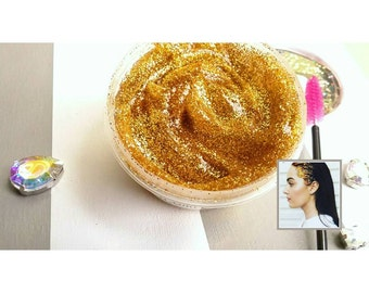 GOLDENMECRAZY Diva Glitter Gel - Hair Glitter Styling Gel Pomade Temporary Color Body Glitter Highlights Jewelry Accessories Bling Sparkle