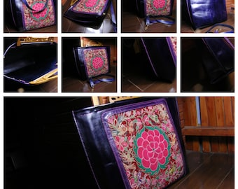 embroidered/Custom made,customized/portable bag/hand tooled/hand made/hand carving/vintage handbag/personalized