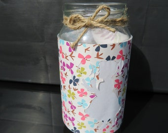 Flower Girl paper and Jar Lantern / Luminaries