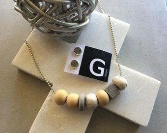 LATTE - Handmade Polymer Clay Necklace by GDesignsJewellery