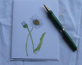 Daisy Note Card, Flower Boxed Set, Get Well Card, Artwork Stationery Boxed Set