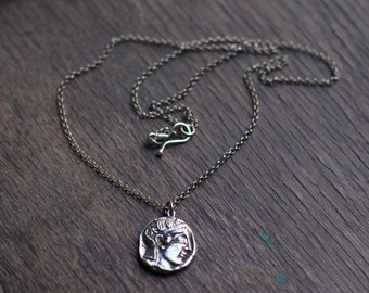 Ancient silver necklace