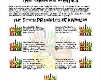 Kwanzaa Personalized Print