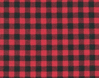 Robert Kaufman Mammoth Flannel in Red - cotton flannel fabric