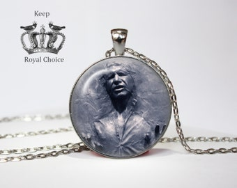 Han Solo Frozen In Carbonite Necklace, Star  Wars Pendant, perfect gift, Necklace for him,  Art Gifts for Her
