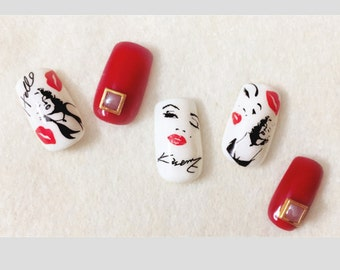 Marilyn Monroe Water Slide Nail Decals