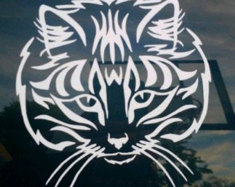 Cat Face Decal
