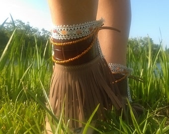 Ankle Cuff with Orange details