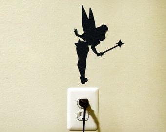 Tinker Bell Disney Light Switch Vinyl Decal Sticker Tinkerbell Fairy