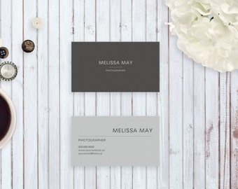 Business Cards Printable Template - Melissa May