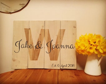 Personalised commemoration sign - Wedding