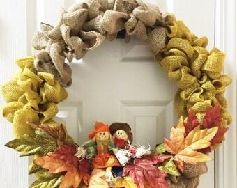 "Burlap ""Scarecrow"" Wreath"