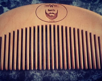 Wooded beard comb, Wonderful Whiskers Beard Co.
