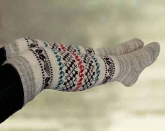 Womens merino socks, Over the knee socks, Wool knit knee socks, Knitted merino socks, Warm wool socks, Over knee socks, Merino wool socks