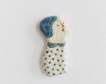 Look up • clay brooch