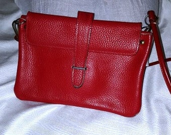 Vintage Purse - Vibrant Red