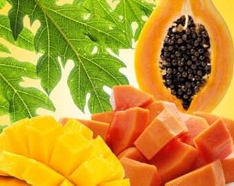 Mango & Papaya - 100% Natural Soy Wax 'Deluxe' 400g Candle