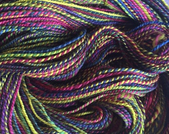 SALE!! - 410 Yards 2 ply Handspun Polworth - Skittles