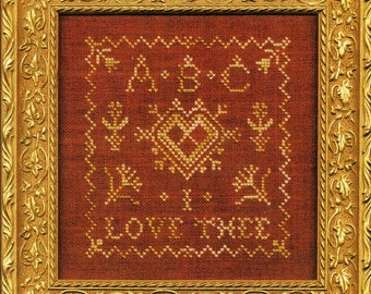 ABC I Love Thee by C Street Samplerworks Counted Cross Stitch Pattern/Chart