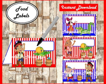 jake and the neverland pirates Food labels printable jake and the neverland pirates party food  sc 1 st  Etsy & Jake and the Neverland Pirates Birthday Party Package