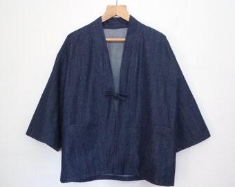 Organic Denim Kimono Jacket