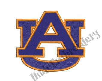 Auburn Tigers Embroidery Designs 9 Sizes Football Logo Embroidery Design Instant Download 8 Formats machine embroidery pattern