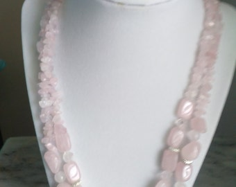 Rose Quartz Double Strand Necklace