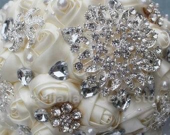 Ivory Cream Brooch Bouquet