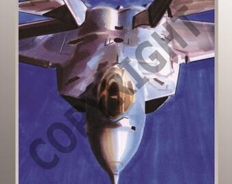 F22 A3 high quality Aviation Art print